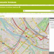 Familiennetz Bremen Netzwerkkarte